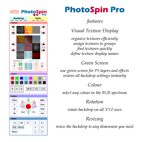 PhotoSpin Pro Backdrop Features